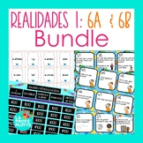 Realidades 1 Capítulos 6A & 6B Activities BUNDLE | Games, Task Cards, Activities