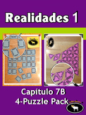 Realidades 1 Capítulo 7B 4 Puzzle Pack