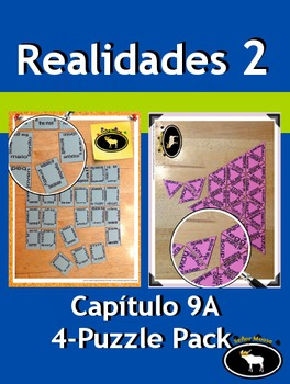 Realidades 2 Capítulo 9A 4 Puzzle Pack