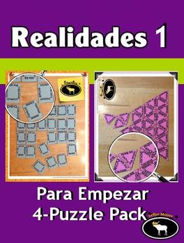 Realidades 1 Capítulo Para Empezar 4 Puzzle Pack