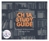 Realidades 1 Ch 1A Study guide *EDITABLE* reading & writin
