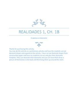 Realidades 1, Ch. 1B El poema en diamantee