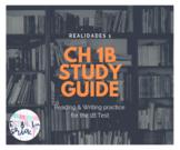 Realidades 1 Ch 1B Study guide *EDITABLE* reading & writin
