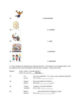 Realidades 1 Ch.1B Vocab Quiz- Version B