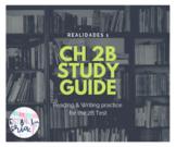 Realidades 1 Ch 2B Study guide *EDITABLE* reading & writin