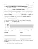 Realidades 1 Ch 3B grammar test