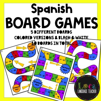 Realidades 1 Chap 2A Board Game Boards & Question Sheet