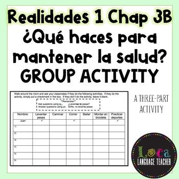 Realidades 1 Chap 3B Qué haces Whole Class Activity