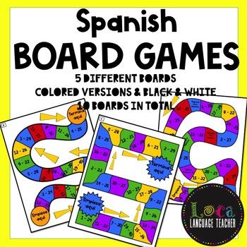 Realidades 1 Chap 8A Board Game Boards & Answer Sheet
