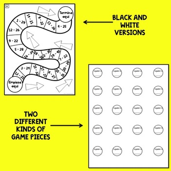 Realidades 1 Chap 9B Board Game Boards & Question Sheet