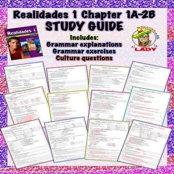 Realidades 1 Chapter 1A-2B Review Sheet