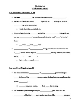 Realidades 1 Chapter 1A Vocabulary and Grammar Study Guide