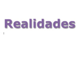 Realidades Level 1 Chapter 2A Smart Textbook Supplements f