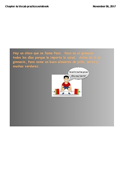 Realidades 1 Chapter 4A vocabulary and Grammar Story