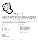 Realidades 1: Chapter 4B IR + a + INF Dice Game