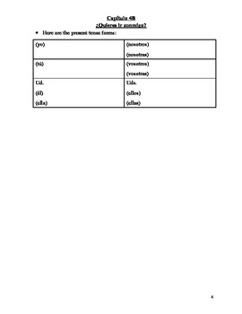 Realidades 1 Chapter 4B Vocabulary and Grammar Study Guide