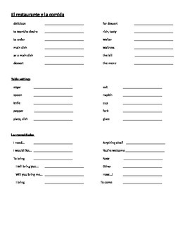 Realidades 1 Chapter 5B Differentiated Vocab introduction activities