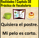 Realidades 1 Chapter 5B Vocabulary Practice PDF and for Go