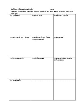 Realidades 1 Chapter 6a vocabulary practice