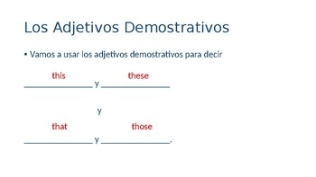 Realidades 1 Chapter 7A Demonstrative Adjective Notes