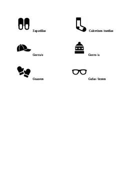 Realidades 1, Chapter 7A. La ropa. Quiz / Activity