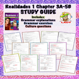Realidades 1 Chapters 3A-5B Review Sheet