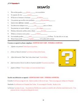 Eres tu Maria ¿Eres tú, María? BUNDLE: Activities/Quizzes/Project/Packet