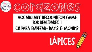 Realidades 1 PE-4B Corazones Bundle ALL 23 games