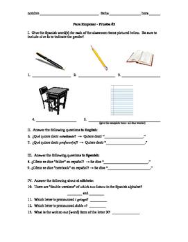 Realidades 1 Para Empezar Lesson 2 vocab quiz on calendar,