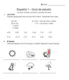 Realidades 1 - Para Empezar Study Guide