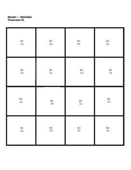 Realidades 1 Puzzle Blocks Chapter 3A