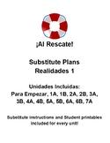 Realidades 1: Substitute Plans, Para Empezar-7A (14 total