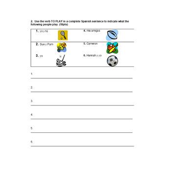 Realidades 1 Unit 4AB Test / Exam