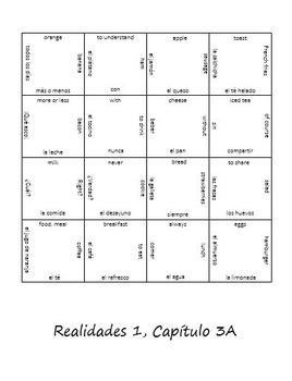Realidades 1 Vocab Puzzle Pack (Chapters PE-4B)