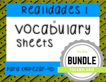 Realidades 1 Vocabulary Bundle
