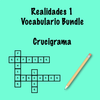 Realidades 1 Vocabulary Crossword Bundle