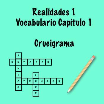 Realidades 1 Vocabulary Crossword Chapter 1