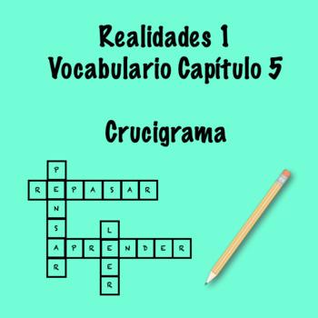Realidades 1 Vocabulary Crossword Chapter 5