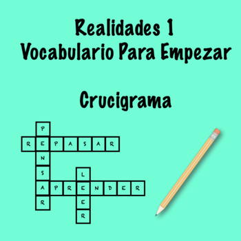 Realidades 1 Vocabulary Crossword Para Empezar