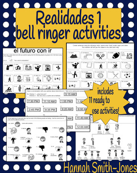 Realidades 1 bell ringer activities bundle