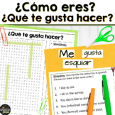 Spanish 1 word search & sentence unscramble- Activities & Descriptions