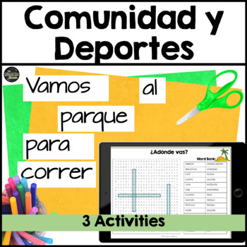 Spanish 1 (Realidades 4A 4B) word search- sports and activities