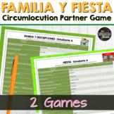 Spanish 1 vocabulary circumlocution game- Family, familia,