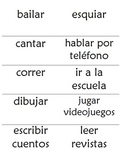 Realidades 1A Flashcards and 2 versus 2 Pictionary Game Instructions