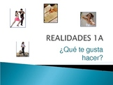 Realidades 1A PowerPoint with assignment, rubric and music video