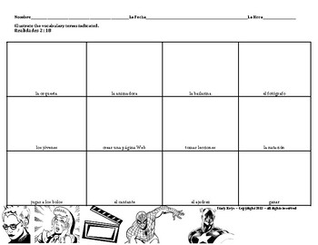Realidades 1 (1B): Comic Strip Activity: Afterschool Activ