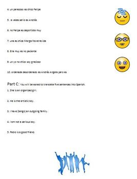 Realidades 1B Grammar Quiz plus Practice Grammar Quiz