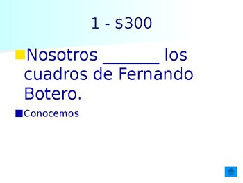 Realidades 2 1A 1B Jeopardy Review Game Saber Conocer School