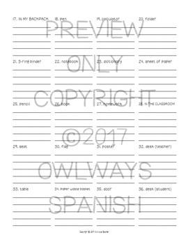 Realidades 2 - 1A - AVSR - 5X - Spanish Homework Write Five Times Each