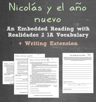 Realidades 2 1A Embedded Reading + Writing Activity